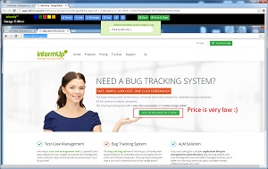 Bug Tracking System - Built-in Image Editor Tool